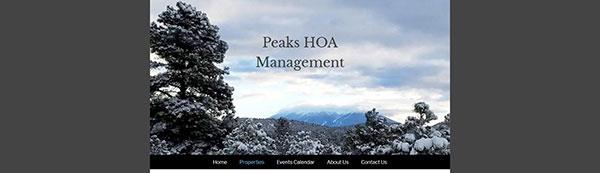 Peaks HOA Management Website