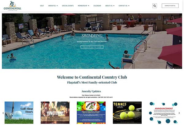 Continental Country Club Website
