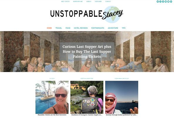 Unstoppable Stacey Travel website