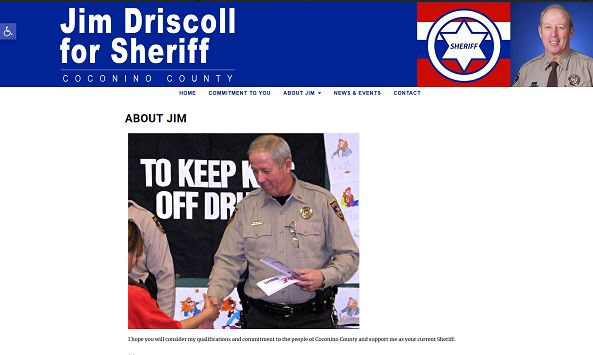 Jim Driscoll for Sheriff website